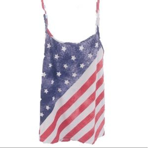 Rue 21 American Flag Tank Top Red/White/Blue - XL